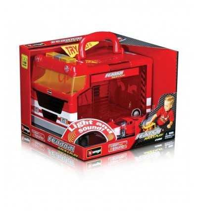 Garage ferrari con luci e un'auto 18-31201 -Futurartshop.com