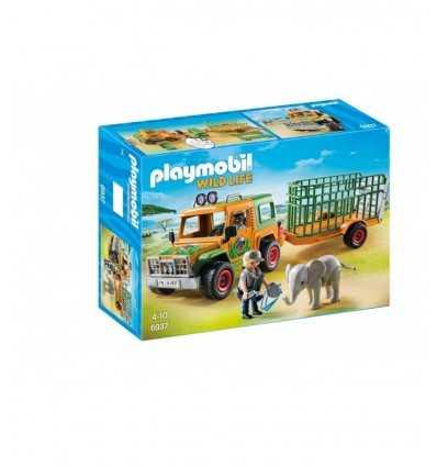 Playmobil jeep with rangers ' transport crate 6937 Playmobil- Futurartshop.com