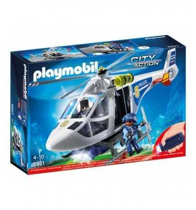 playmobil elicottero della polizia con luci di avvistamento 6921 Playmobil-Futurartshop.com