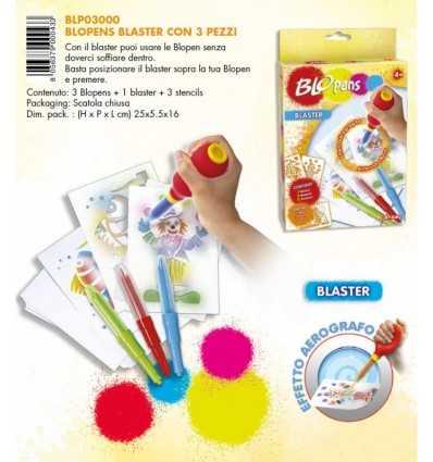 Blo Stifte 3er Pack Stifte plus einen Blaster und 3 Schablonen BLP03000 Giochi Preziosi- Futurartshop.com