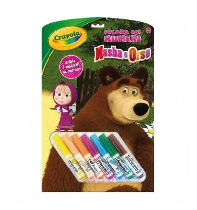 album colors with numbers masha and the bear 7477/C Crayola- Futurartshop.com