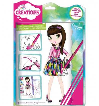 creaciones crea moda con pegatinas 26202 Crayola- Futurartshop.com