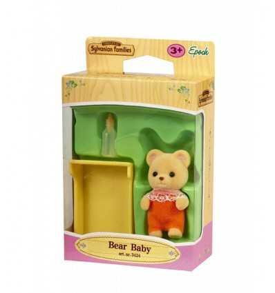baby orso con culla sylvanian families 3424.SYL Epoch-Futurartshop.com