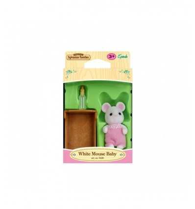 baby topolino bianco sylvanian families 3420.SYL Epoch-Futurartshop.com