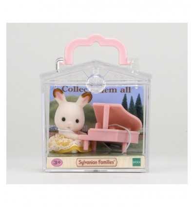 baby rabbit with piano sylvanian families 5202.SYL Epoch- Futurartshop.com