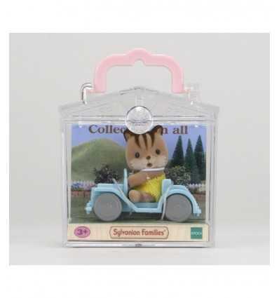 baby squirrel with car sylvanian families 5203.SYL Epoch- Futurartshop.com