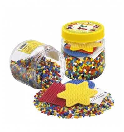 jar avec les perles hama et 3 bases 4000 2052.AMA Hama- Futurartshop.com