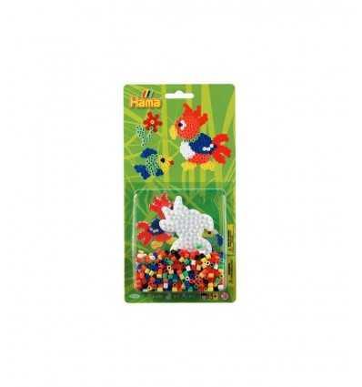 blister 450 perline con base pappagallo 4168/4164 Hama-Futurartshop.com