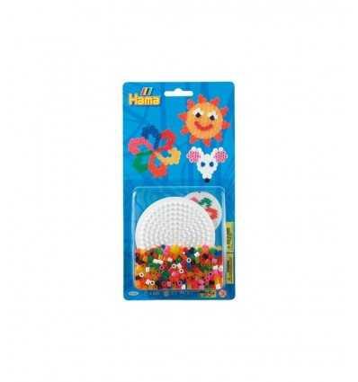 450 perlas hama con base redonda de la ampolla 4168/4166 Hama- Futurartshop.com