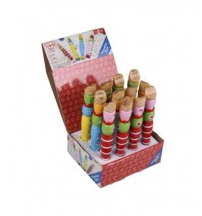 Kolorowe zabawki drewniane tooky flet 421193 Grandi giochi- Futurartshop.com