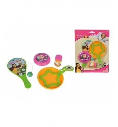 Paddle Ball set 30 Ml, soap bubbles and Mini Frisbee 109303187 Simba Toys- Futurartshop.com
