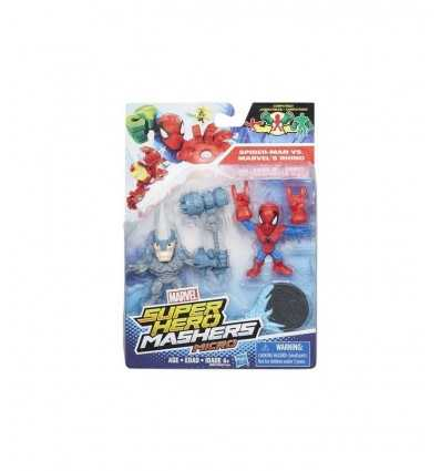spiderman marvel super hero characters versus mashers micro's rhino B6432EU40/B6687 Hasbro- Futurartshop.com
