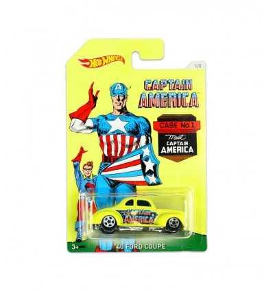 Hot wheels vehicle of captain america-40 ford coupe DJK75/DJK79 Mattel- Futurartshop.com