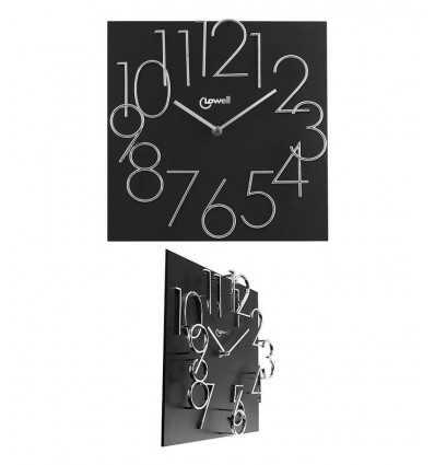 Black wood wall clock 14535N Lowell- Futurartshop.com