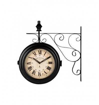 Horloge drapeau noir LOW14754 Lowell- Futurartshop.com