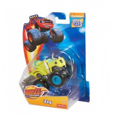 metal vehicle blaze-zeg-light green CGF20/CGH57 Mattel- Futurartshop.com