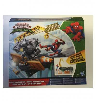 Spider-man with rhino rampage playset B7199EU40 Hasbro- Futurartshop.com