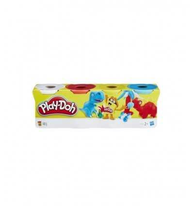 Play-Doh Pack 4 tarros rojo-amarillo-blanco azul B5517EU40/B6508 Hasbro- Futurartshop.com