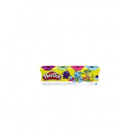 Play-Doh Pack 4 jars-Lilac-Blue-Green-bronze B5517EU40/B6510 Hasbro- Futurartshop.com