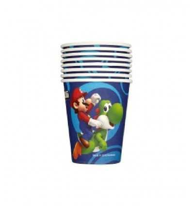 Super Mario Bros - Set 8 Bicchieri Di Plastica CMG189216 CMG189216 Como Giochi - Futurartshop.com