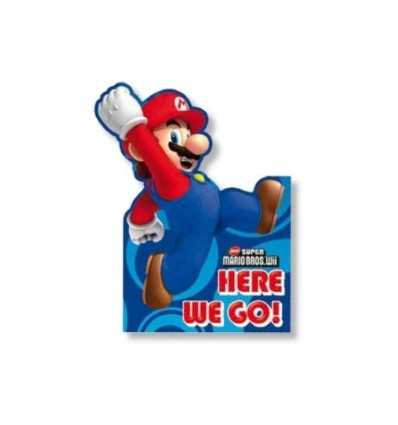 6 biglietti d'invito con busta per feste a tema Super Mario Bros CMG189254 CMG189254 Como Giochi -Futurartshop.com