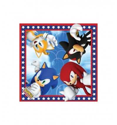 16 Tovagliolini Sonic CMG194012 CMG194012 Como Giochi - Futurartshop.com