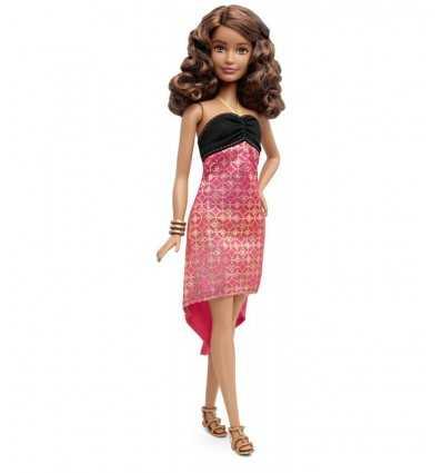 Barbie Fashionistas Freunde Mulattin mit rosa und schwarzen Kleid DGY54/DMF26 Mattel- Futurartshop.com