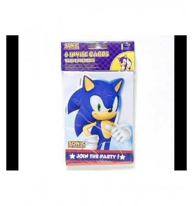 6 biglietti di invito Sonic CMG194043 CMG194043 Como Giochi - Futurartshop.com