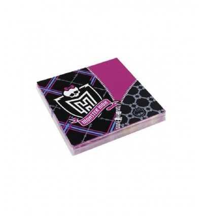 Monster High - Set 20 Tovaglioli Di Carta 33x33 Cm CMG552248 - Futurartshop.com