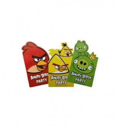 招待状のチケット 6 封筒怒っている鳥 CMG552368 CMG552368 Como Giochi - Futurartshop.com