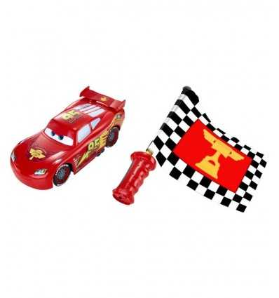 Lightning Mcqueen ready and away with final flag DPL07-0 Mattel- Futurartshop.com