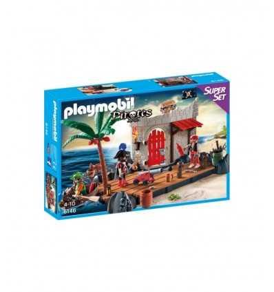 Conjunto de Super fuerte de Playmobil-pirata 6146 Playmobil- Futurartshop.com