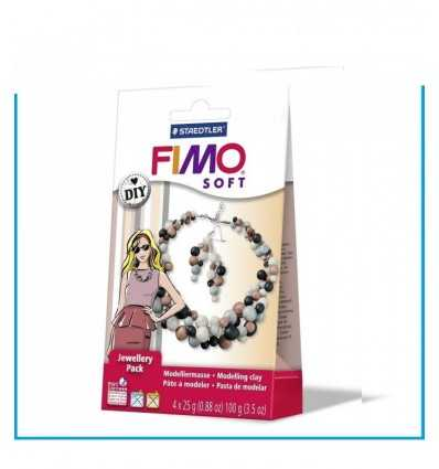 fimo soft jewellery pack bijoux perle con 4 panetti 8025 08 Staedtler-Futurartshop.com