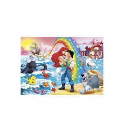Clementoni Puzzle Maxi 24431-Little Mermaid arc-en-ciel, 24 pièces 24431 Clementoni- Futurartshop.com
