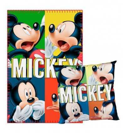Set Plaid pillow with Mickey Mouse 2200001662 Cerdà- Futurartshop.com