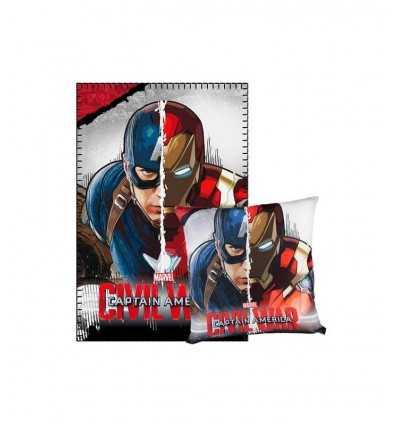 Set Plaid con cuscino Captain America Civil War 2200001664 Cerdà-Futurartshop.com