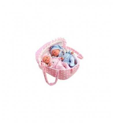 Dolls Arias elegance twin babies with cot RDF60136 Giochi Preziosi- Futurartshop.com