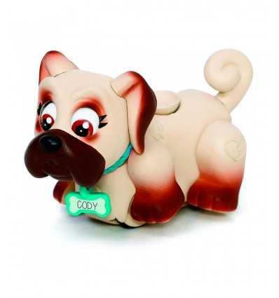 Pet Parade cagnolino Beige e marrone scuro con collare celeste GPZ18547/2 Giochi Preziosi-Futurartshop.com