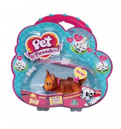 Pet Parade cagnolino marroncino con collare rosa GPZ18547/5 Giochi Preziosi-Futurartshop.com