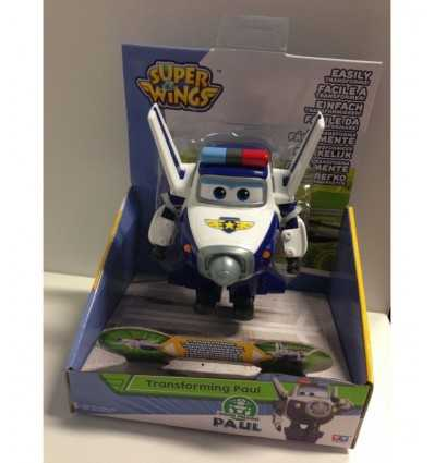 super wings personaggio base transform in robot articolato paul bianco e blu UPW01000/4 Giochi Preziosi-Futurartshop.com