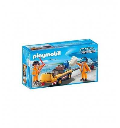 playmobil veicolo trasporti bagagli con addetti pista 5396 Playmobil-Futurartshop.com