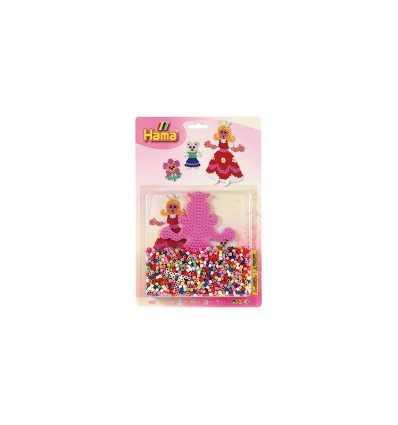 Perles HAMA avec base Princess 1100 4059/4056.AMA Hama- Futurartshop.com