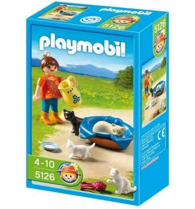 Playmobil 5126 - Bambina con gattini 5126 Playmobil- Futurartshop.com
