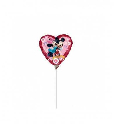 Globo de Mickey y Minnie A23049 corazón A23049 Magic World Party- Futurartshop.com