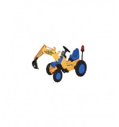 elektrisk traktor med spade gul 3210030 Biker Toys- Futurartshop.com