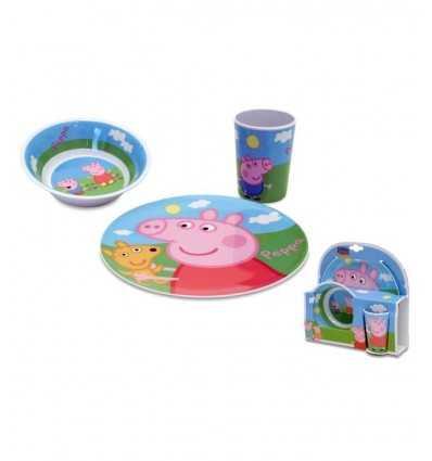 メラミン Peppa 豚 3 個セット 748690 Linea Paggio- Futurartshop.com