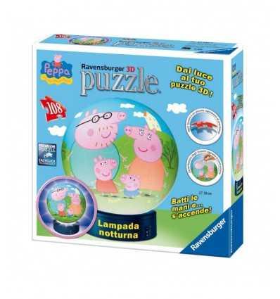 Ravensburger 12247-Peppa Pig Nacht Lampe 3D Puzzle 12247 Ravensburger- Futurartshop.com