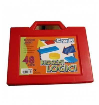 LOGICAL BLOCKS WITH BRIEFCASE. 48 PCS for medium/small 07734CWR Arvi- Futurartshop.com