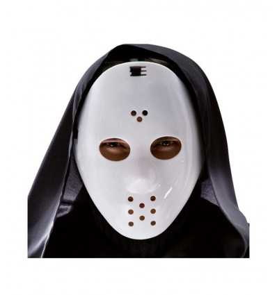 Maschera hockey bianca in plastica 00945 00945 Carnival Toys- Futurartshop.com