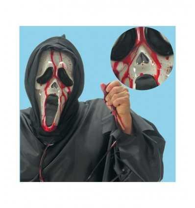 Maschera scream sanguinolenta con cappuccio 00996 00996 Carnival Toys- Futurartshop.com